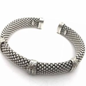 Jewelry - Sterling Silver Mesh Bracelet with CZ's